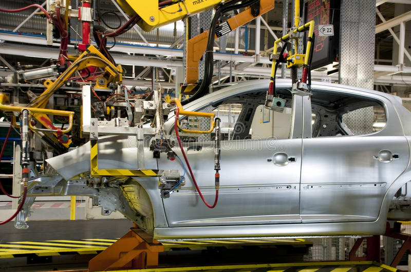 Automotive industry manufacture stock image
