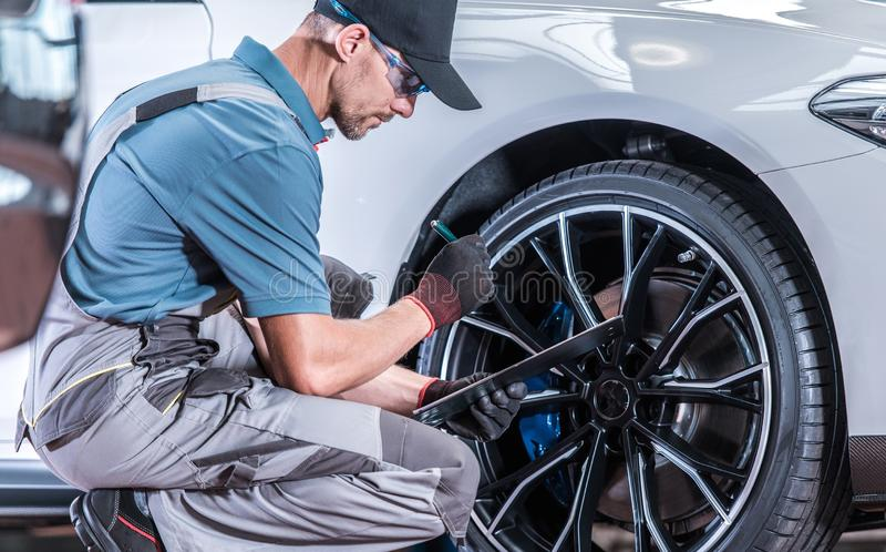 Modern Car Servicing stock images