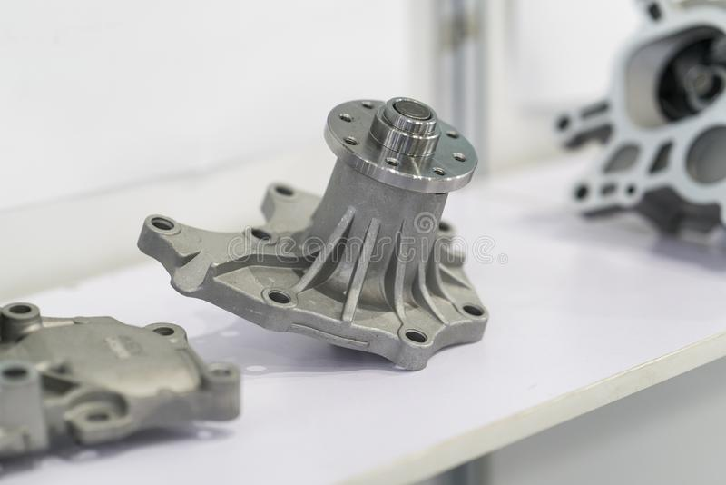 Automotive part production by hot forging process. High precision hot forging product, automotive part production by hot forging process, automatice line hot stock photo