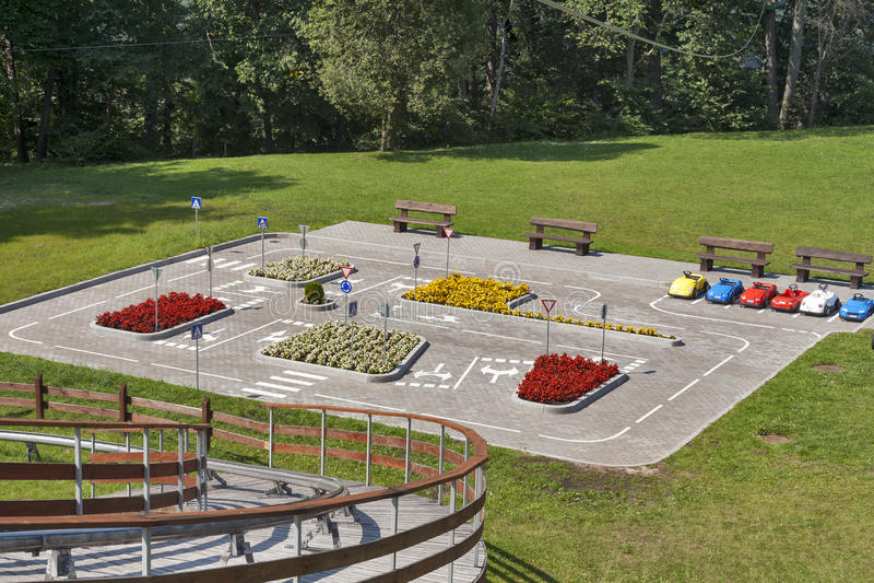 Automotive playground outdoor stock photos