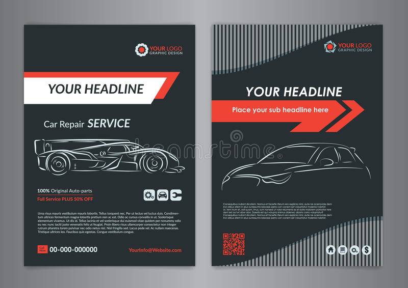 Automotive Repair Business Layout Templates, Automobile Magazine ...