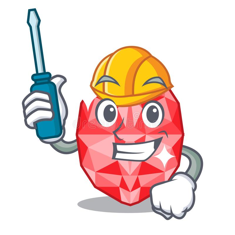 Automotive ruby gems in the mascot shape. Vector illustration vector illustration