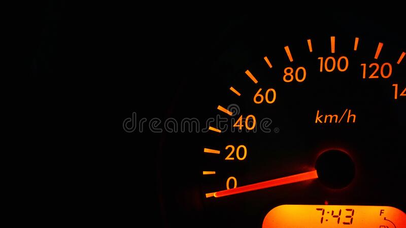 Automotive speedometer stock photos