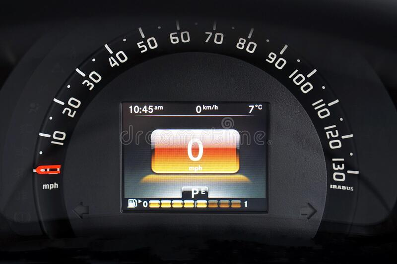 Automotive speedometer royalty free stock image
