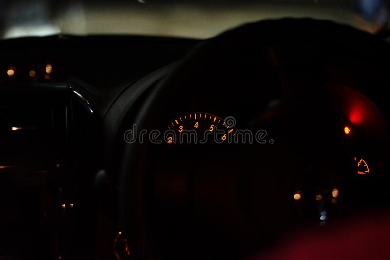 Automotive speedometer stock photography