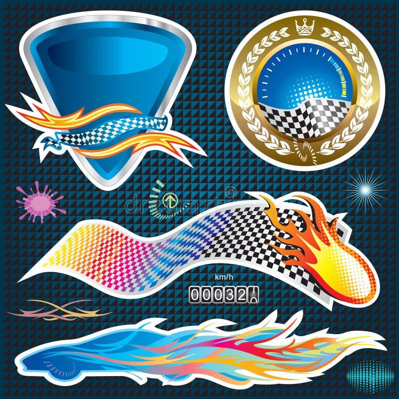 Automotive Sticker. Design, vector illustration layered file