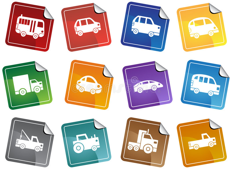 Download Automotive Sticker Buttons stock vector. Image of design - 9314634