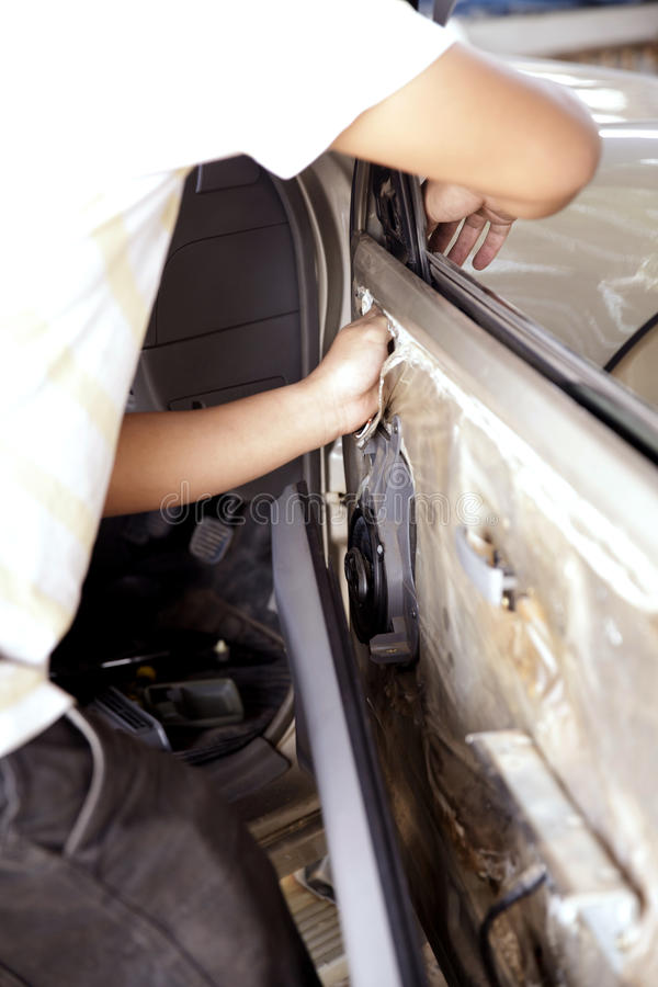 Automotive technicians stock photography