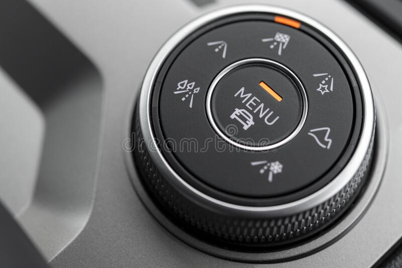 Automotive Terrain Selector for an SUV royalty free stock photos