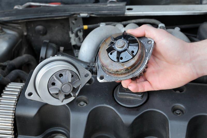 Automotive water pump stock photography