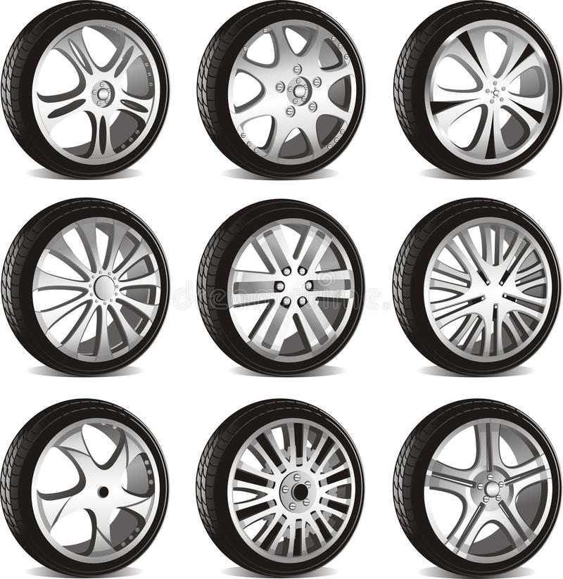 Download Automotive wheel stock vector. Illustration of drive - 21992800