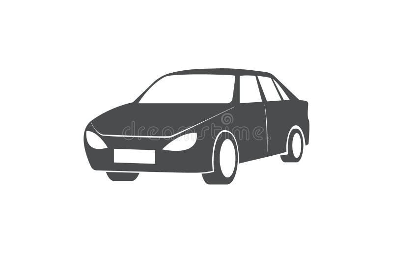 Automotivo, partilha de carro, símbolo do transporte público ilustração stock