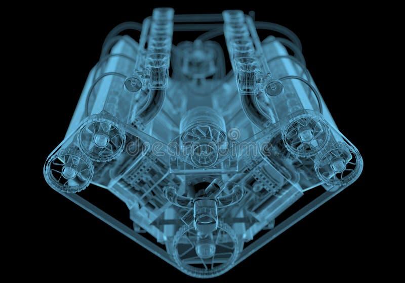 Automotor lizenzfreies stockfoto