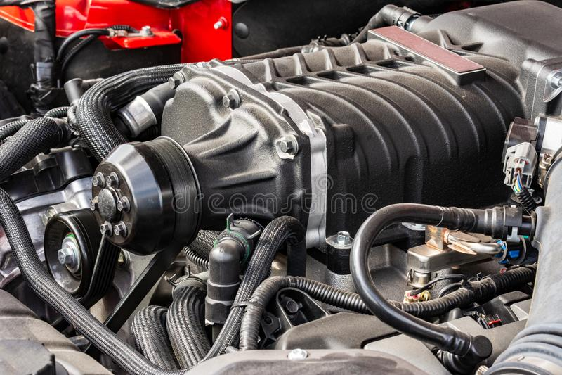 Automotor eines alten Hasen lizenzfreie stockfotografie