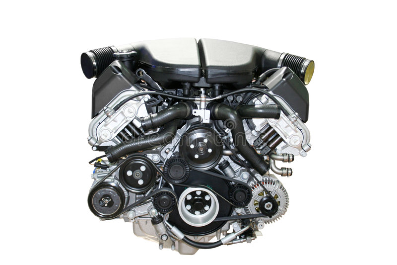 Automotor getrennt stockfotos