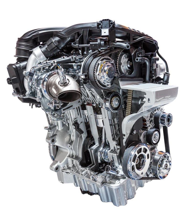 Automotor getrennt auf Weiß lizenzfreies stockbild