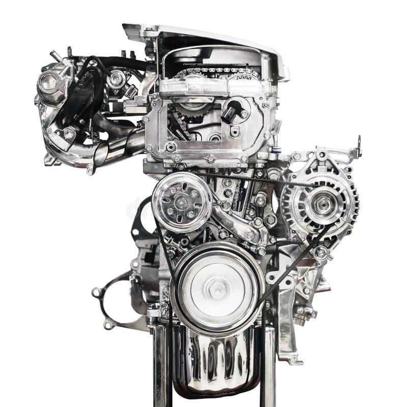 Automotor lokalisiert auf weißem Hintergrund lizenzfreie stockbilder