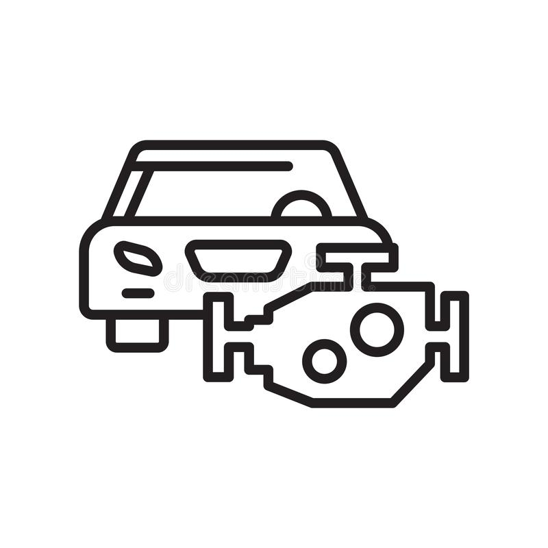 Automotorikonenvektorzeichen und -symbol lokalisiert auf weißem backgro vektor abbildung