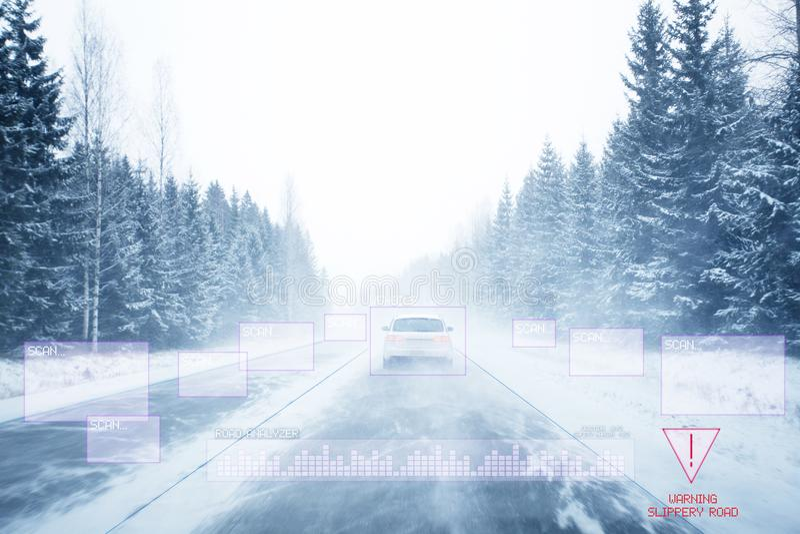 Autonome Auto stock afbeelding