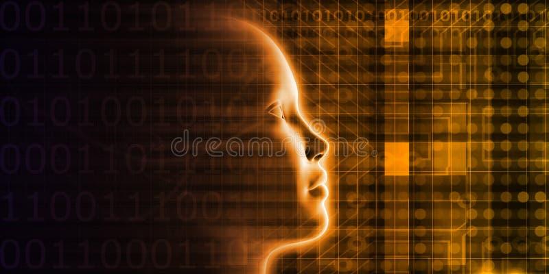 Autonome Robotindustrie stock illustratie