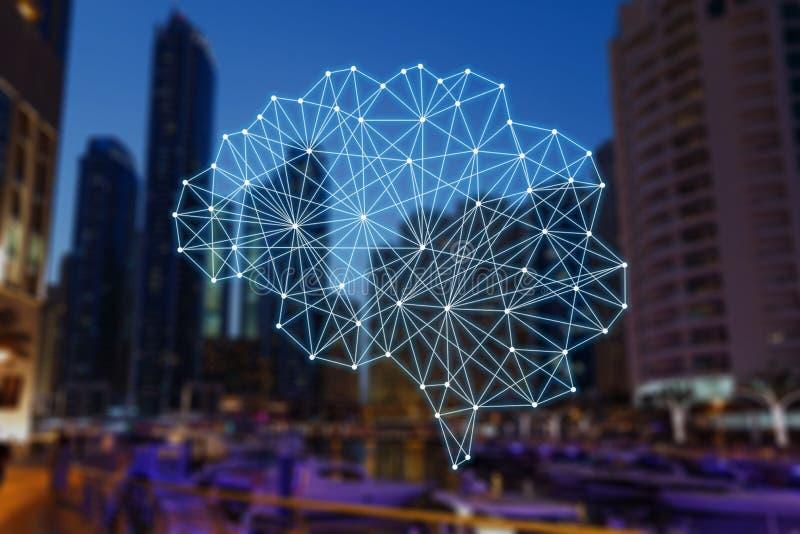 Autonome Sachen und intelligente Stadt vektor abbildung