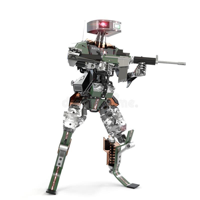 Autonome Waffenroboter stock abbildung