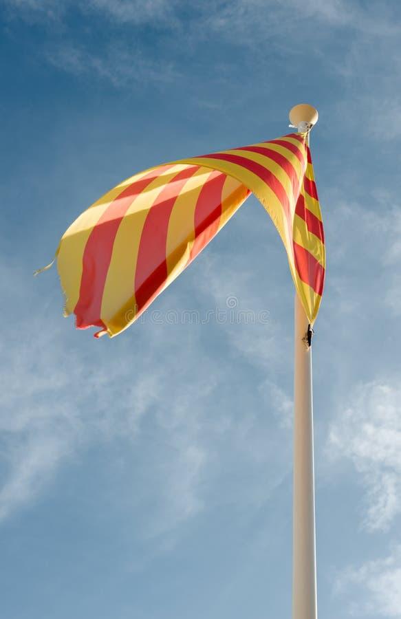Autonomia Catalunya della bandiera immagine stock libera da diritti