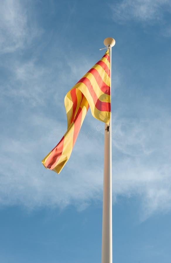 Autonomia Catalunya della bandiera fotografia stock libera da diritti