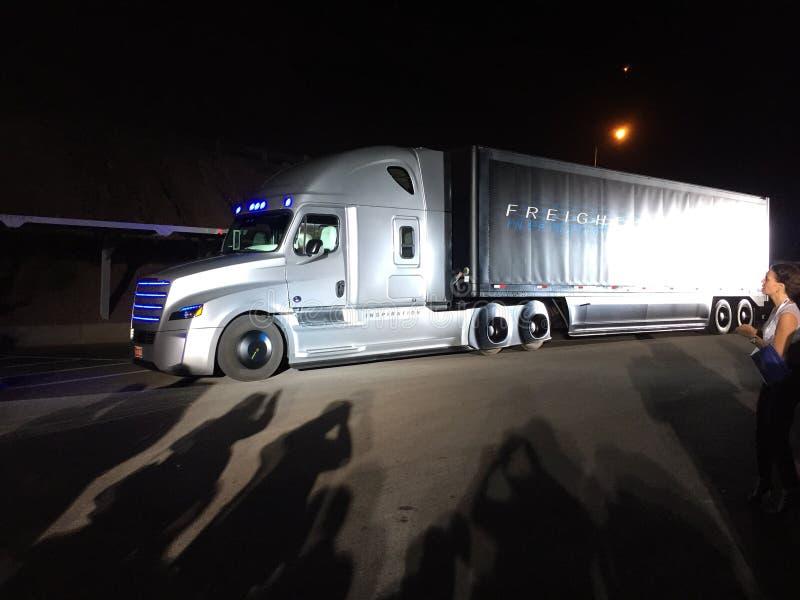 Autonomiczna ciężarówka obraz royalty free