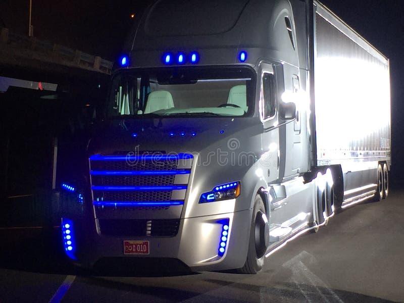 Autonomiczna ciężarówka fotografia royalty free