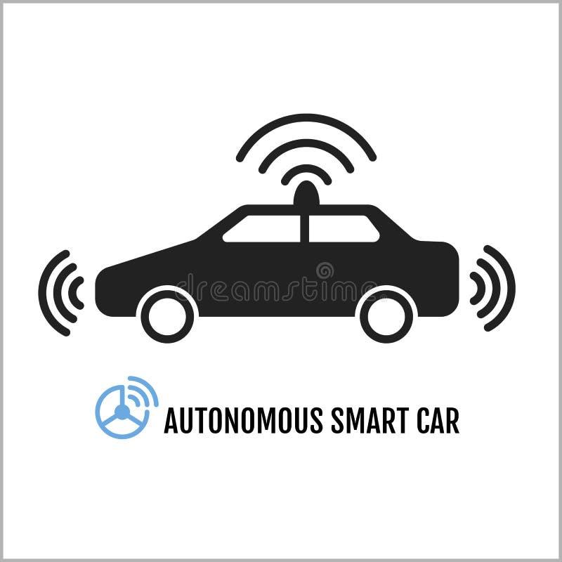 Autonomiczny Mądrze Samochodowy ikona projekt ilustracji