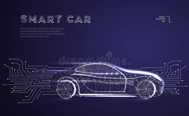 Autonomiczny samochodowy pojazd royalty ilustracja