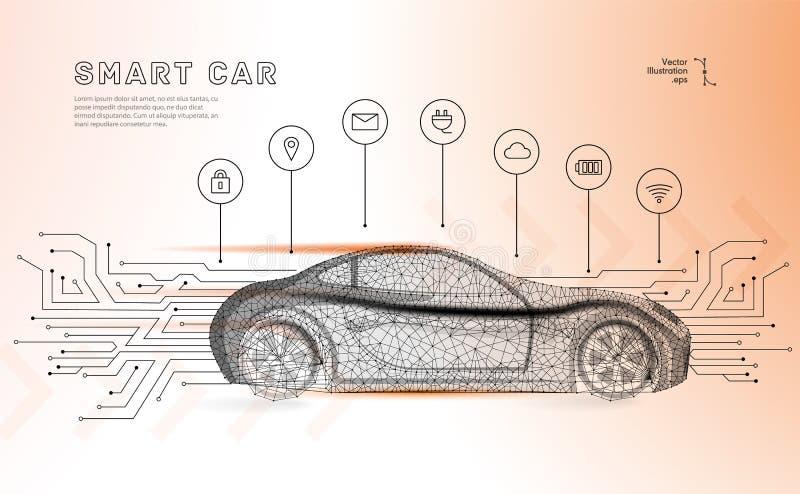 Autonomiczny samochodowy wektor royalty ilustracja