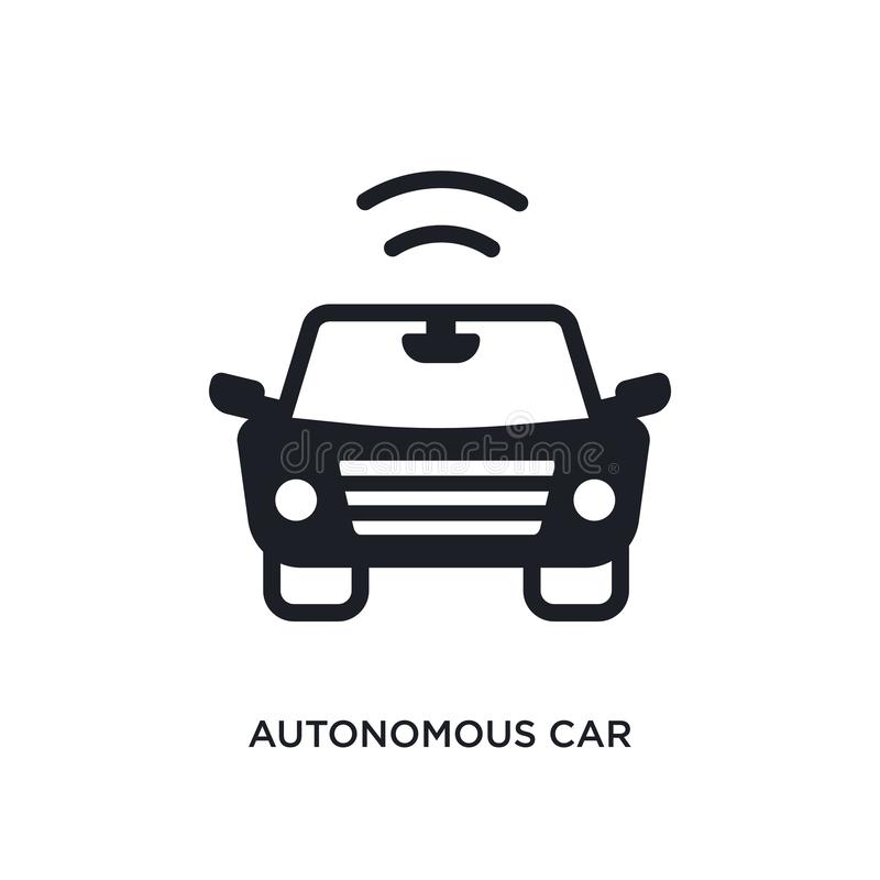 autonomous car isolated icon. simple element illustration from smart house concept icons. autonomous car editable logo sign symbol royalty free illustration