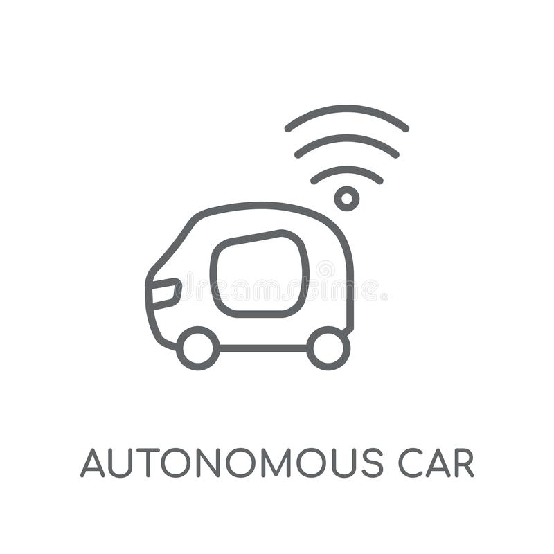 Autonomous car linear icon. Modern outline Autonomous car logo c vector illustration