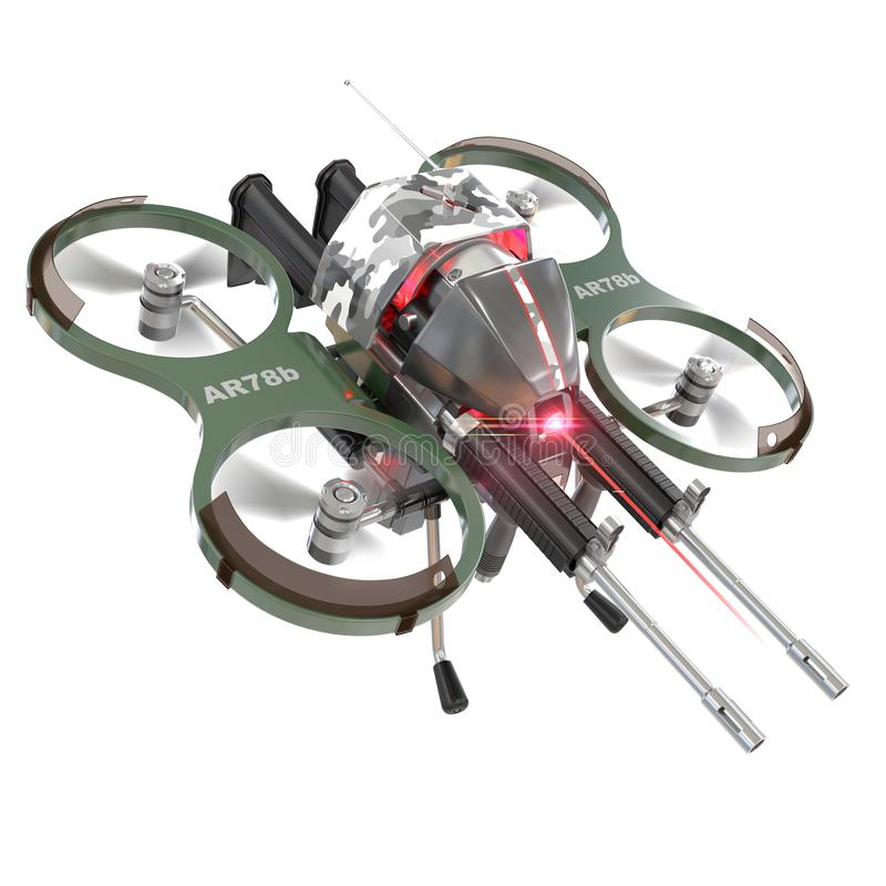 Autonomous weapons drone royalty free illustration