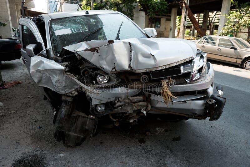 Autoongeval in Azië, Thailand stock afbeeldingen