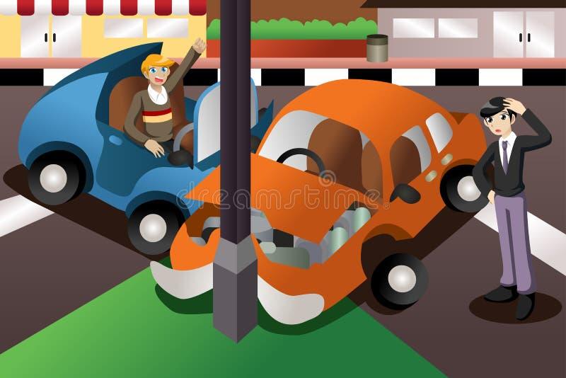 Autoongeval in de stad vector illustratie