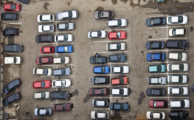 Autoparken stockbilder