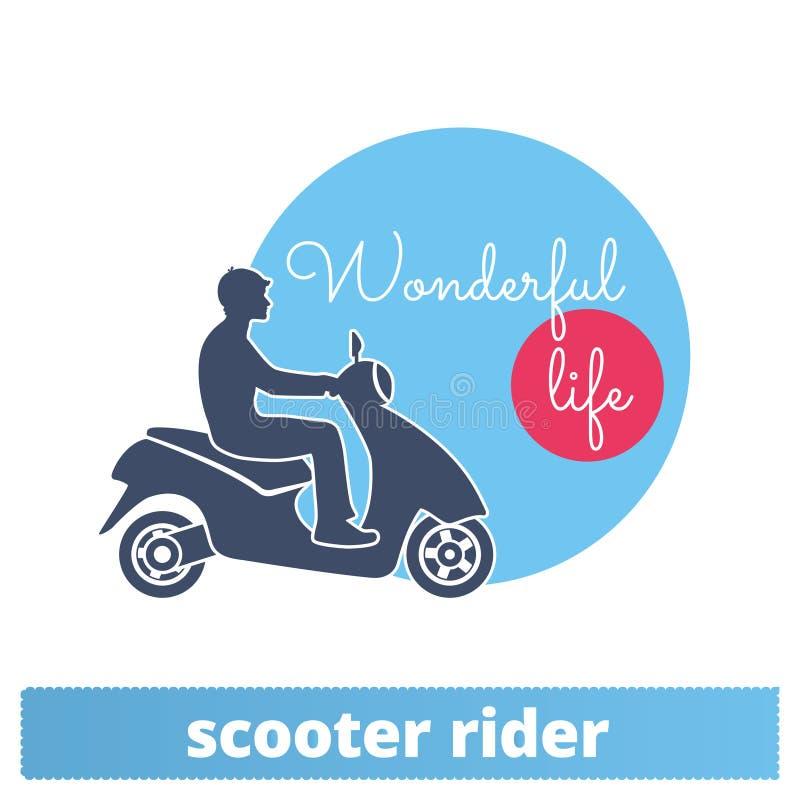 Autoped Rider Vector Icon vector illustratie