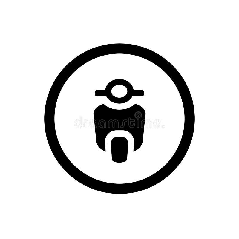 Autopedpictogram en Cirkeloverzicht, Motorfiets Vectorembleem stock illustratie