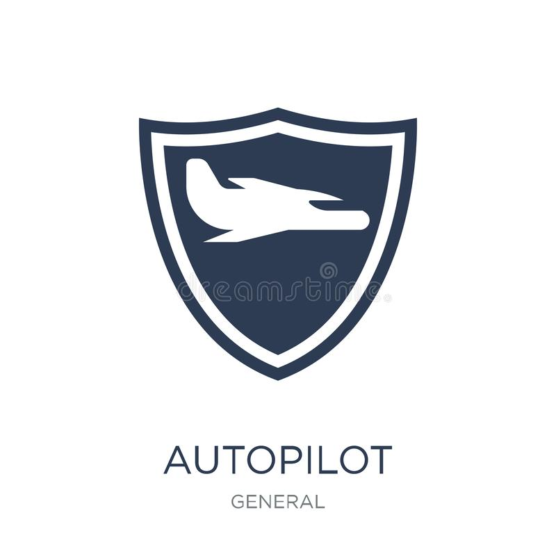 autopilot icon. Trendy flat vector autopilot icon on white background from general collection vector illustration