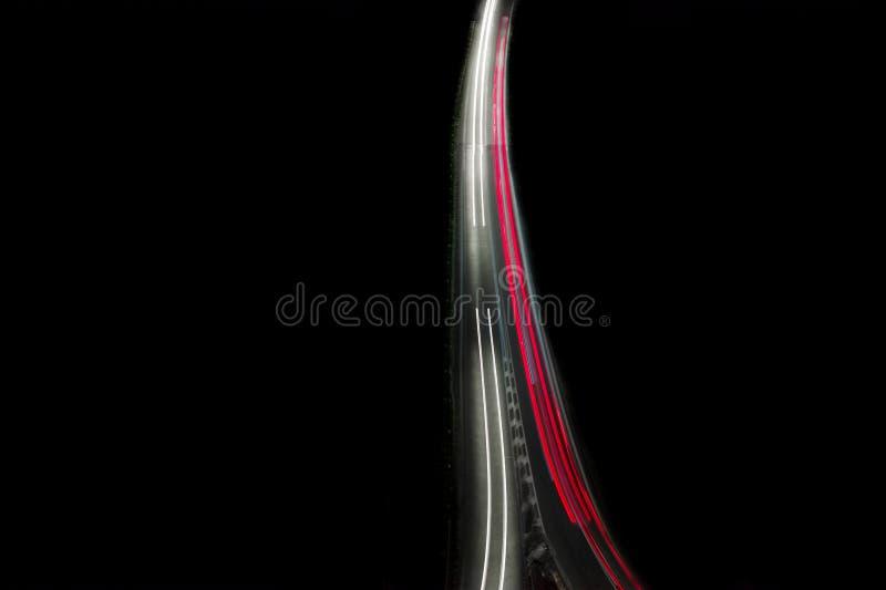 Autopista de la noche D0 en Praga imagenes de archivo