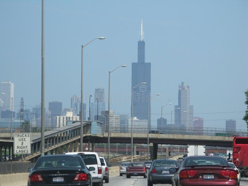 Autopista sin peaje de Chicago fotografía de archivo