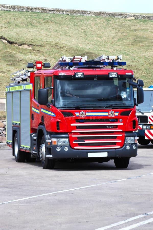 Autopompa antincendio britannica fotografia stock