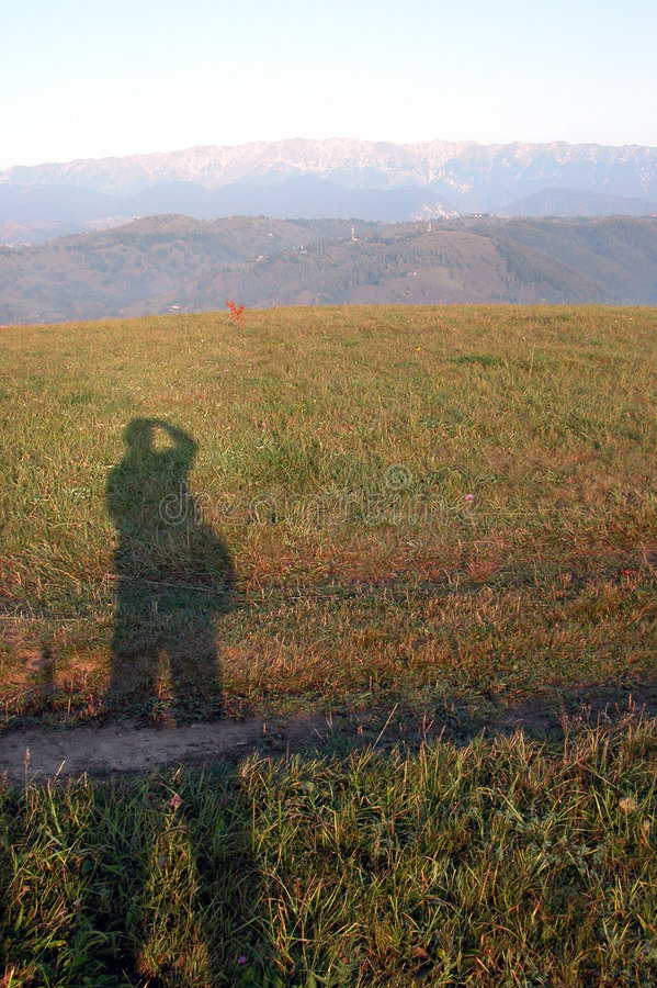 Download Autoportrait stock photo. Image of grass, sunrise, sillhouette - 676