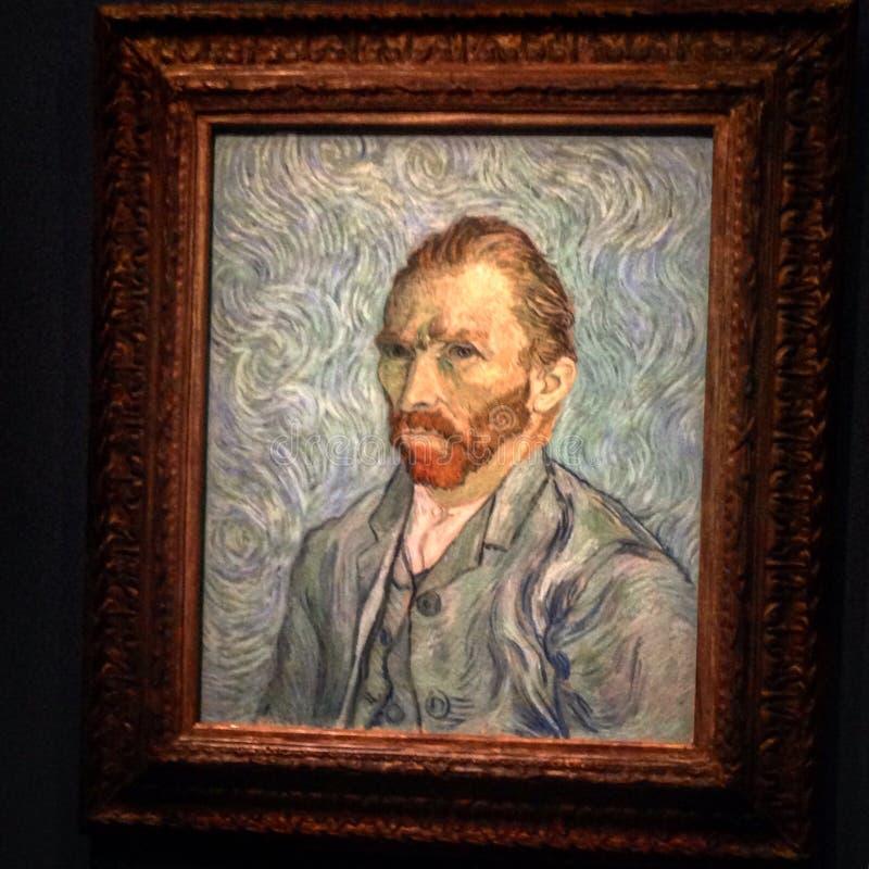Autoportrait av Van Gogh royaltyfri foto