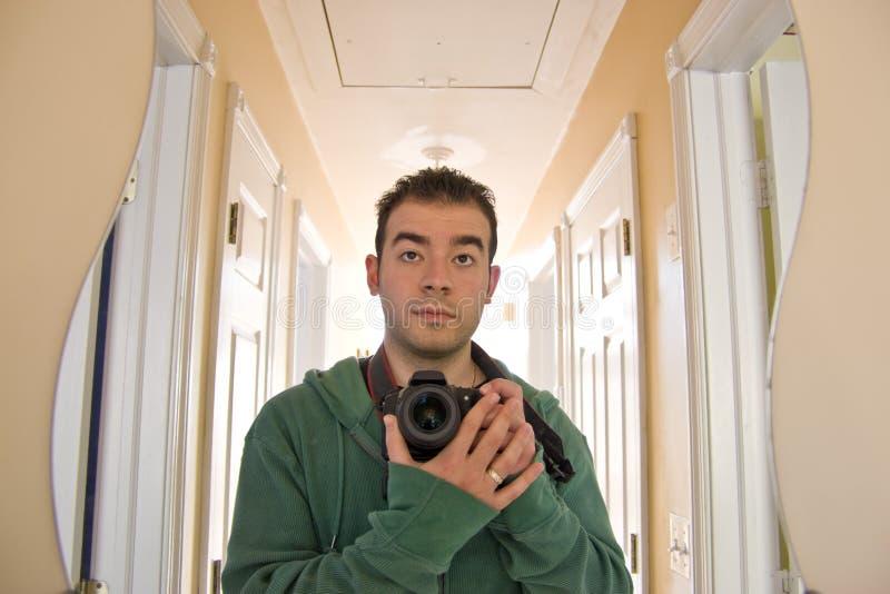 Autoportrait de photographe photo stock