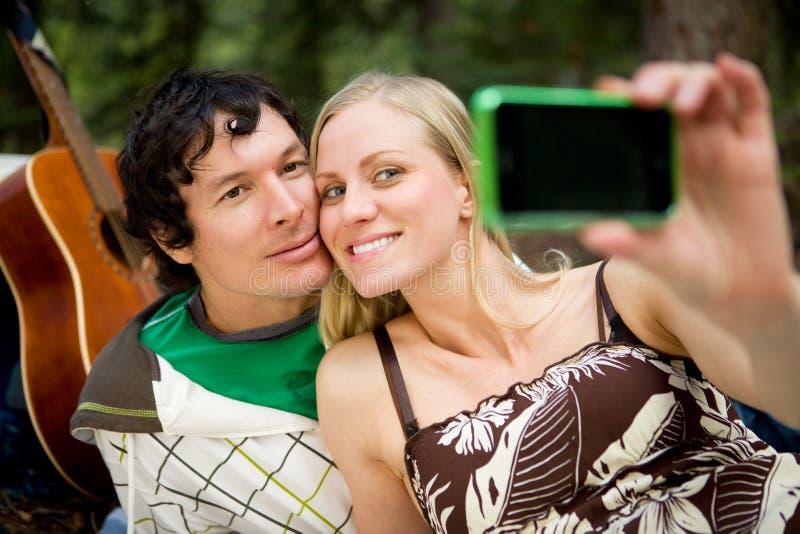 Autoportrait heureux de couples images libres de droits