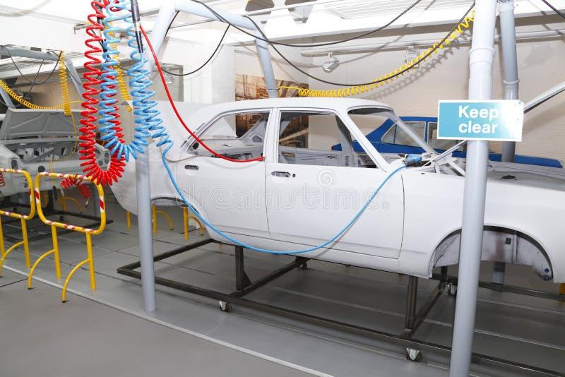 Autoproduktions-Fabrik lizenzfreies stockbild